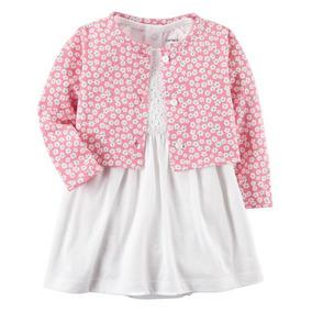 Vestido Carters Nuevo Con Sweater Rosa Talla 6 Meses