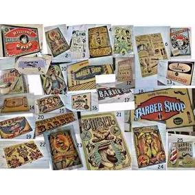 10 Carteles Chapa Vintage Barberia Peluqueria Tattoo Bar