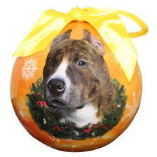 Pit Bull Christmas Ornament Shatter Proof Ball Fácil Person