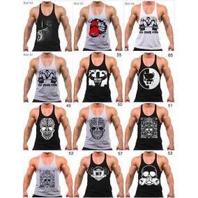 015084ffca66d 7 Regatas Cavada Masculina Para Treino Academia Musculação