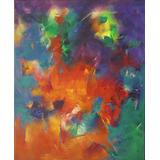 Cuadro Óleo Original 50 X 60 Esencialismo Pintura Abstracta