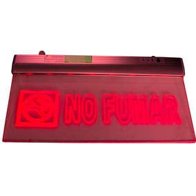 Letrero Led Luminoso No Fumar Con Luz Emergencia