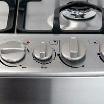 Cocina 856 Mabe Metál Luz,enc Tapa Vid + Parillas Fun/grill