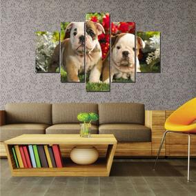 Quadro Mosaico Decorativo Bulldog Filhotes