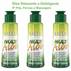 Kit C3 Óleo Quente P/ Massagem Relaxante Corpo Pernas Racco