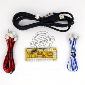 Kit Placa Usb Zero Delay Arcade Eletromatic Pc Ps3 Ps4 Aegir