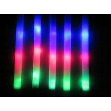 10 Rompecocos Led Barras Goma Espuma Luminosa Multicolor