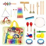 23pcs Instrumentos Musicales Para Niños Con Xilófono Instr