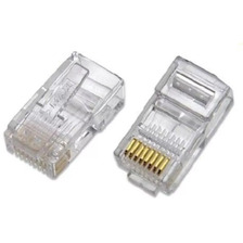 Conector Red Rj45 Cat 5 Pack 50 Unidades Red Cable Utp Inter