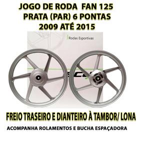 Jogo De Roda Liga Leve Fan 125 09 Até 15 Scud Freio À Tambor