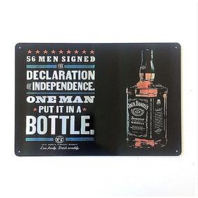 Placa Decorativa Metal Holografica Jack Daniels Pl273