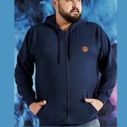 Jaqueta Masculina Plus Size Com Capuz Domínio Urbano