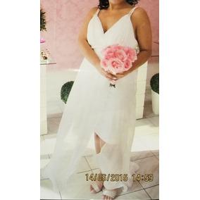 Vestido De Noiva / Festa Branco - Curto / Comprido Fantasia