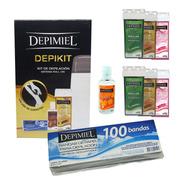 Kit Derretidor Depimiel Depikit + 6 Cera Roll On 100 Bandas