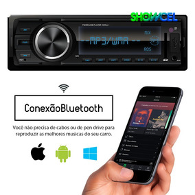 Toca Rádio Mp3 Com Bluetooth Fm Carro Mp3 Automotivo Usb Sd