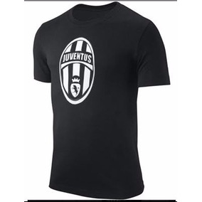Camiseta Estampada Juventus Negra Y Blanco