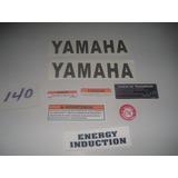 Calcomanias Advertenia Y Tanque Color Plata Yamaha Dt 175