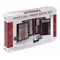 Art101 Set Dibujo Pintura Artistica Portafolio 161 Piezas