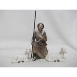 B. Antigo - Pastor Com Ovelhas Figura De Presépio 8,5 Cm