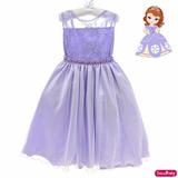 Vestido Festa Infantil Sofia Rapunzel Barbie Daminha Luxo