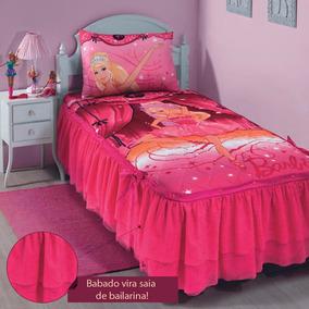 Colcha Infantil 5 Pçs Barbie Matelassê C/ Babado - Lepper