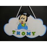 Cartel Bienvenida Mickey O Minnie Bebe