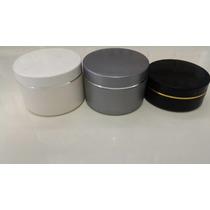100 Potes Plásticos Vazios Para Cremes 250g. C/ Fio Prateado