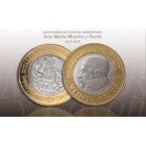 Moneda 20 Pesos Morelos 2015 Capsula De Regalo