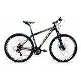 Bicicleta Aro 29 Gta Nx9 24v Freio A Disco Pt Grafite T 20