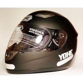 Capacete Yohe City 992 Preto Fosco Igual Helt Race E Spike