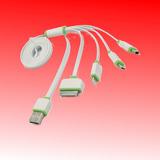 Cable 4 En 1 Para Celulares Y Tablets, Samsung Y Apple