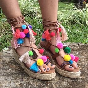 Zapatos Mujer Plataforma Pompones Zogha