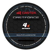 Multifilamento Pesca Caster Castforce 4 Hebras 100 Metros