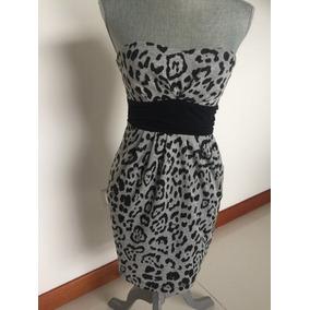 Vestido Print Gris Y Negro