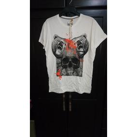 Playera Skull Bear Ropa Mexicana Mecanico Jeans