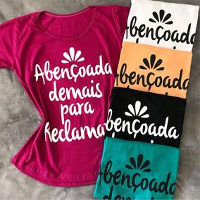 Kit 6 T-shirts Atacado Camiseta Feminina Gospel Envangelica