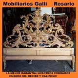 Mobiliarios Galli Cama Dos Plazas Estilo Francés Impecable!!