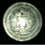 Moneda De Plata De 5 Bs De 1889