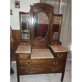 Mueble Antiguo En Cedro Con Mármol Original. Impecable!