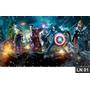 Vingadores Heroes Painel 3,00x1,70m Lona Festa Aniversários