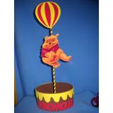 Lembrancinha Centro De Mesa Ursinho Pooh Com Balãozinho