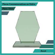 Placas Conmemorativas En Vidrio Forma Ascot