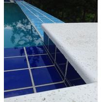 Piso Atérmico Cimentício Borda Reta 50x50 Pedra Piscina