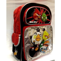 Morral Rovio Angry Birds 16 Black & Red Backpack For Kids