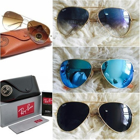 Kit Com 4 Óculos De Sol Ray Ban Aviador Rb3025/3026 Atacado
