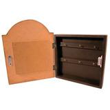 Porta Llaves 6 Ganchos En Caja De Madera Impre$ionante 1985