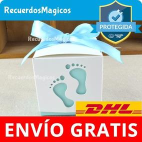 40 Cajas Baby Shower Dulces Recuerdos Piecito Bautizo Rosa A