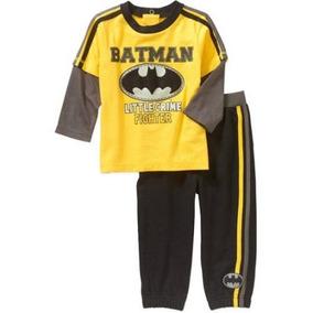 Playera Pantalón Batman Americano Talla 3-6 Meses