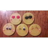 20 Pins Prendedor En Porcelana Fria Emojis Emoticon Souvenir