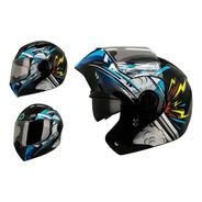 Casco Moto Abatible Ghira Gh1000 Nitro Gafas Certificado Dot